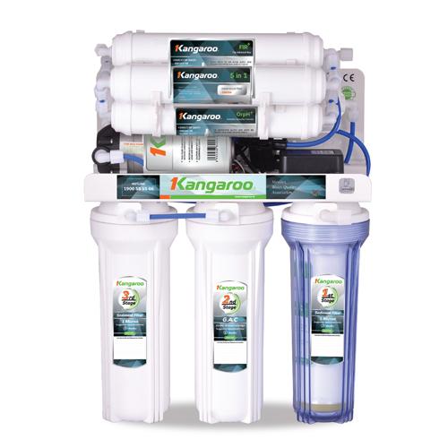 Máy lọc nước Hydrogen RO 9 lõi Kangaroo KG100HB(không vỏ), công nghệ Hydrogen
